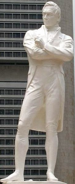 Statue of Sir Thomas Stamford Raffles in Singapore