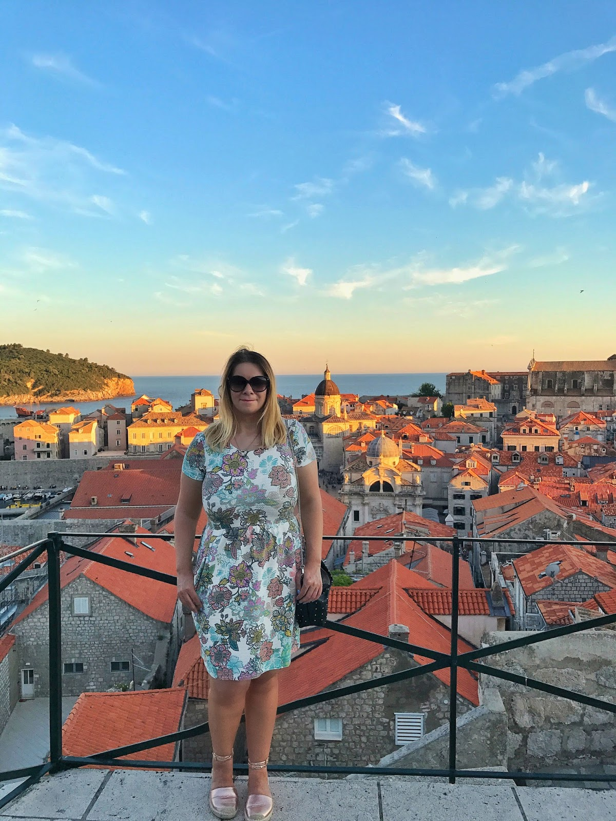 Me in the sunset backdrop of the old city Dubrovnik