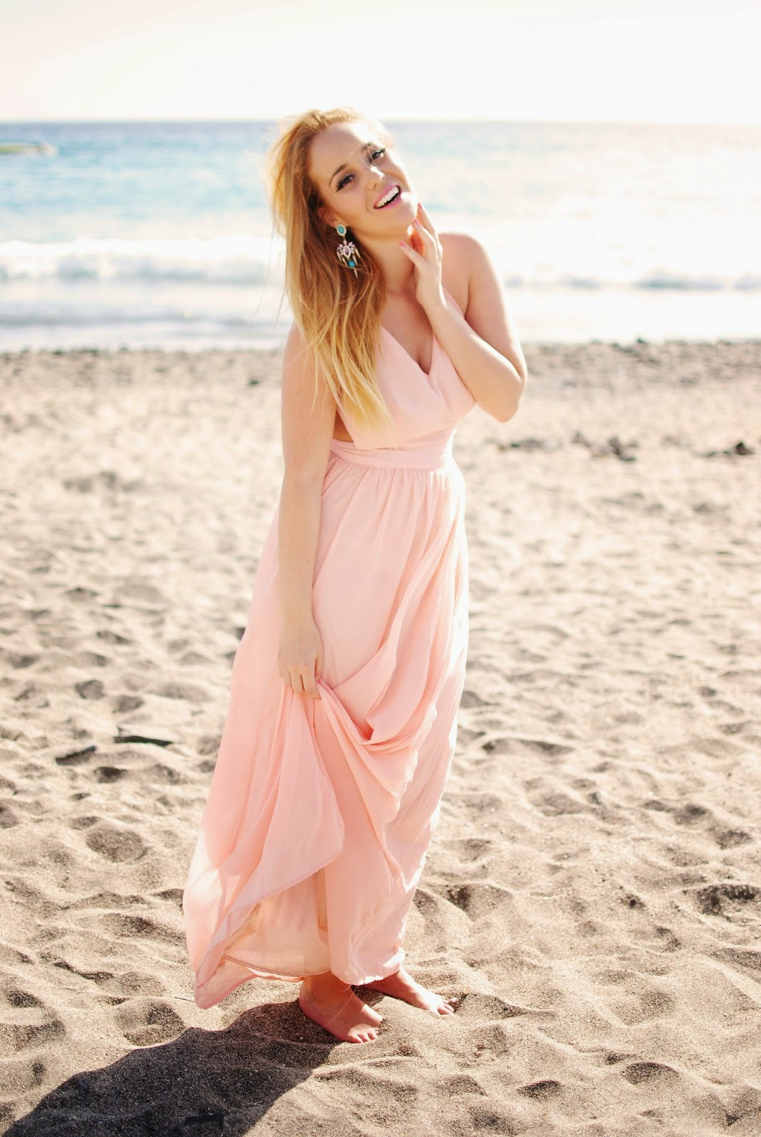 long dress, nery hdez, backless, sheinside dress, summer look, persunmall earring