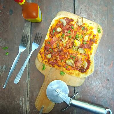 tortilla pizza, homemade tortilla wrap, homemade tortilla, thin crust pizza