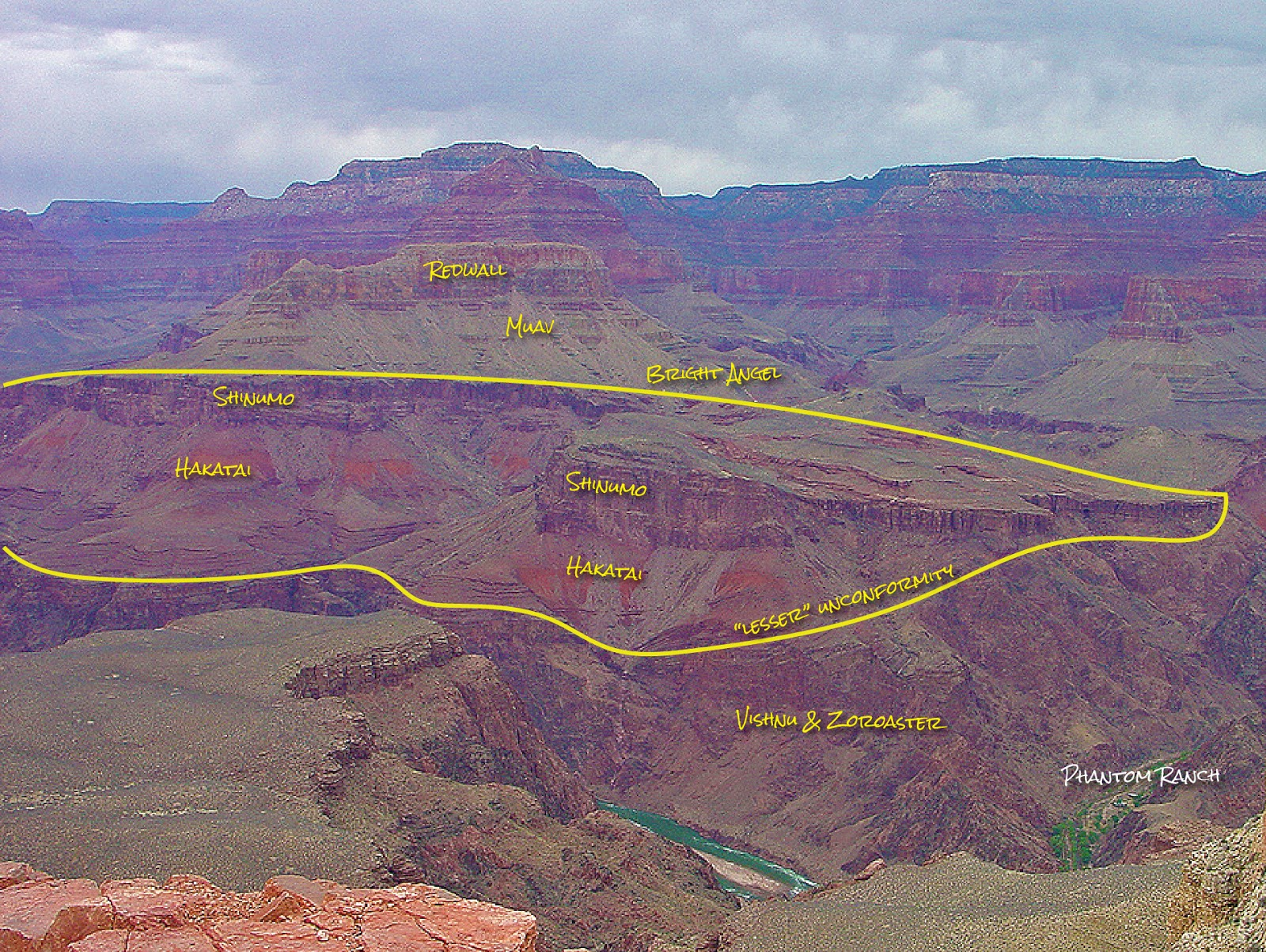 Grand Canyon National Park Arizona Bright Angel Trail south rim geology travel trip rocdoctravel.com