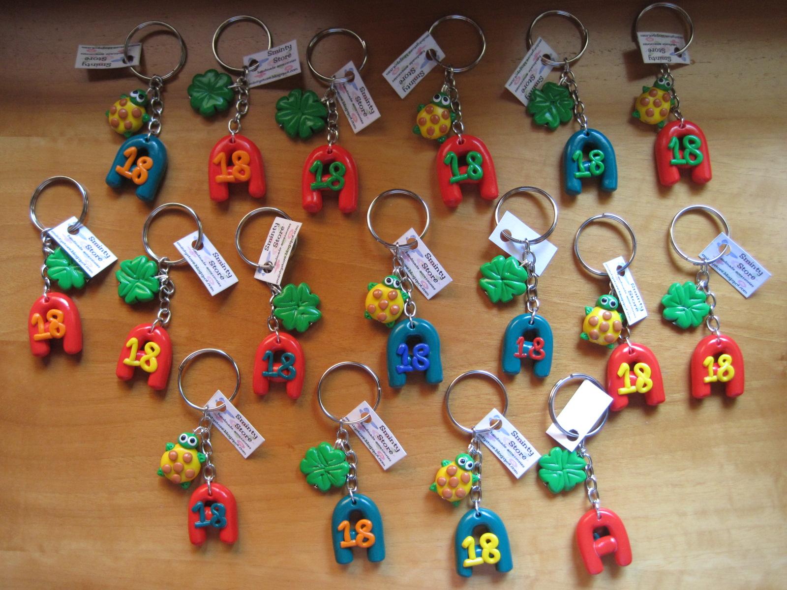 Amato Sminty Store: Bomboniere per compleanno di 18 anni, portachiave  QC24