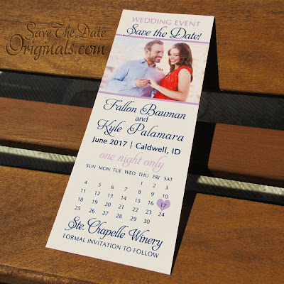 Ticket wedding save the date magnet