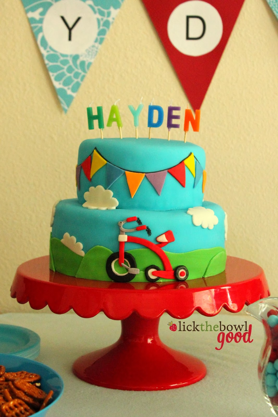 Haydens 2nd Birthday A Radio Flyer Tricycle Party