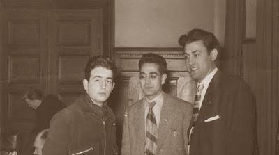 Lucien Francino, Jaume Mora y Román Torán en el III Campeonato Mundial Universitario de Ajedrez - Uppsala 1956