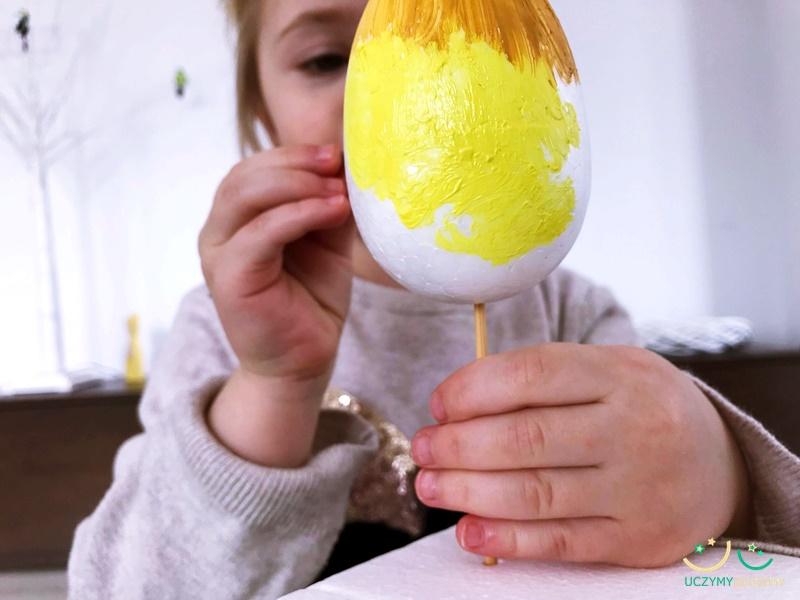 malowanie jajek styropianowych