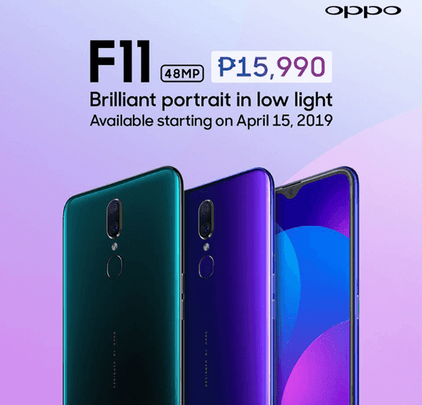 OPPO F11 is coming to the Philippines on April 15