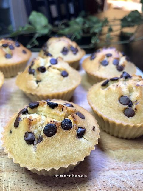 Muffins veganos de coco y chocolate