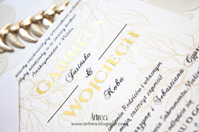 złote dodatki ślubne