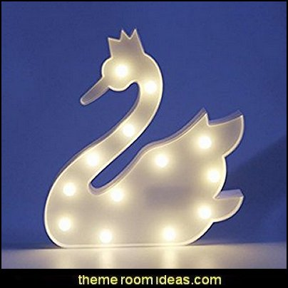 White Swan LED Romantic Birthday Party Decoration for Valentina Gift Kids Room
