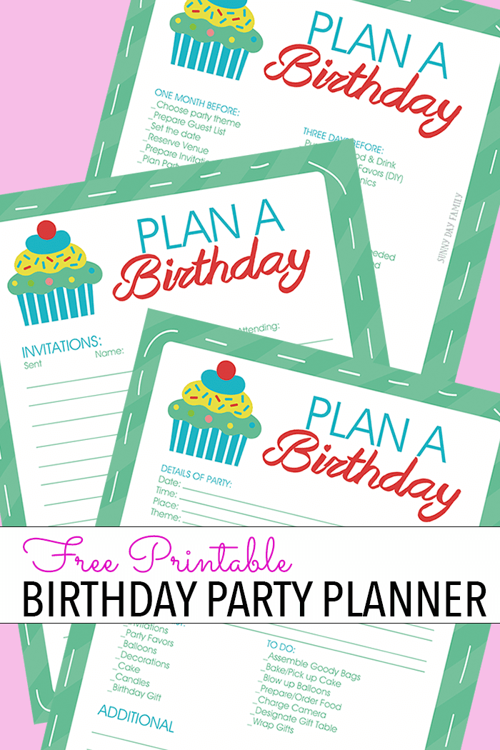 Plan your kids' birthday party with this handy free printable birthday party planner & easy party planning tips! Get organized for a stress free kids birthday party when you have everything planned in one spot. Love these!
