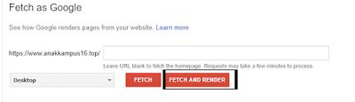 Memperbaiki email penolakan tidak dapat meninjau situs anda dengan cara Fetch As Google
