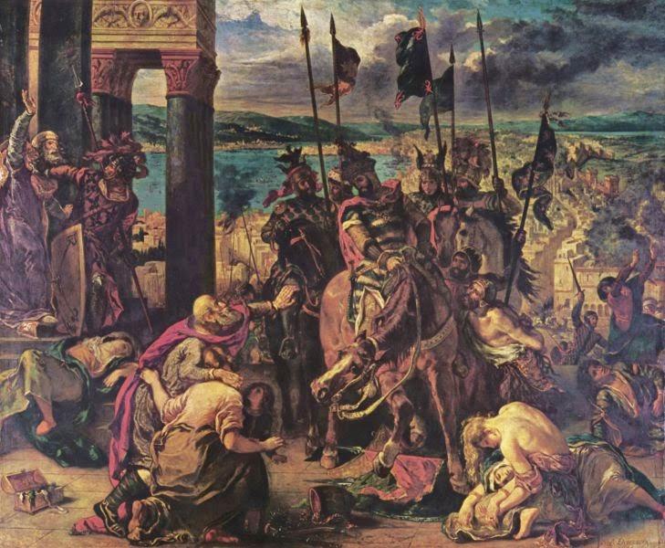 A Morte de Sardanápalos - Delacroix, Eugène e suas principais pinturas ~ Romantismo francês