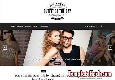 outfit light blogger template