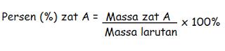 Rumus hubungan molalitas dengan persen massa