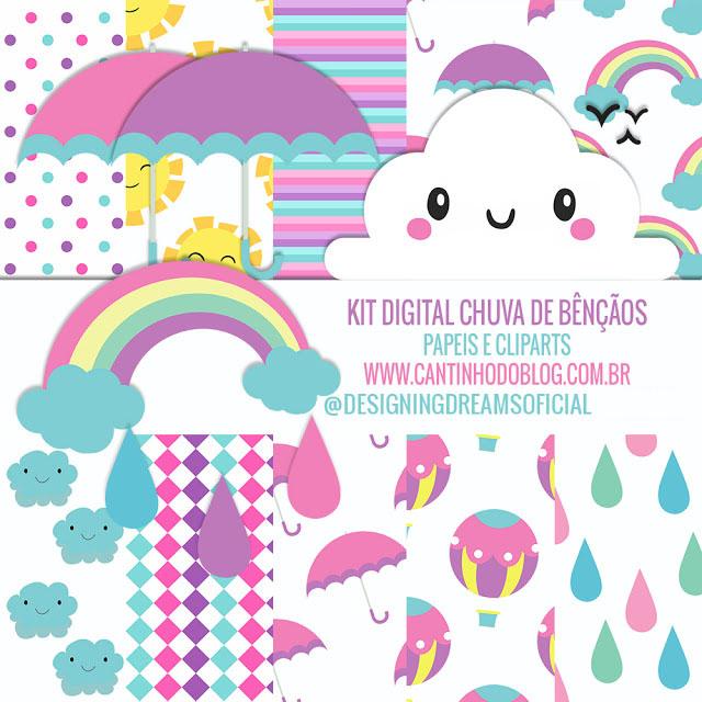 Kit Digital Chuva De Bencaos Gratis Para Baixar Cantinho Do Blog
