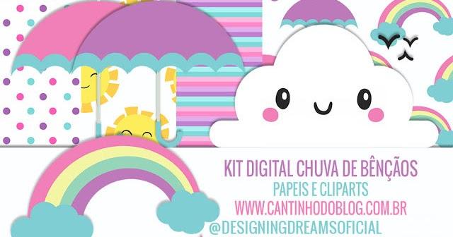 Kit Digital Chuva De Bênçãos Grátis Para Baixar Cantinho Do Blog