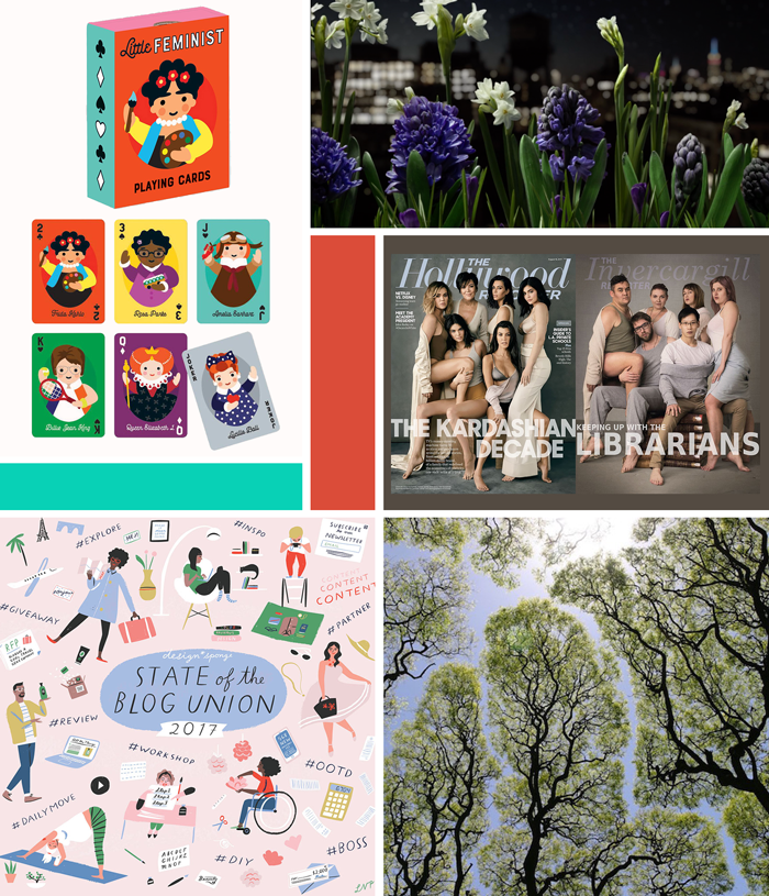 October favorites, state of the blog union 2017, nature, trees, flowers, photography, film, Spring, toys, playing cards, feminists, the kardashians, the librarians, library
