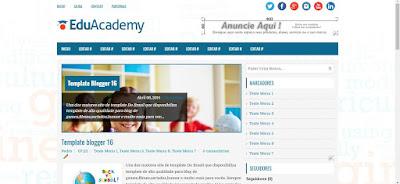 Template Escolar para blogger
