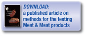 Download a published article on testing meat products