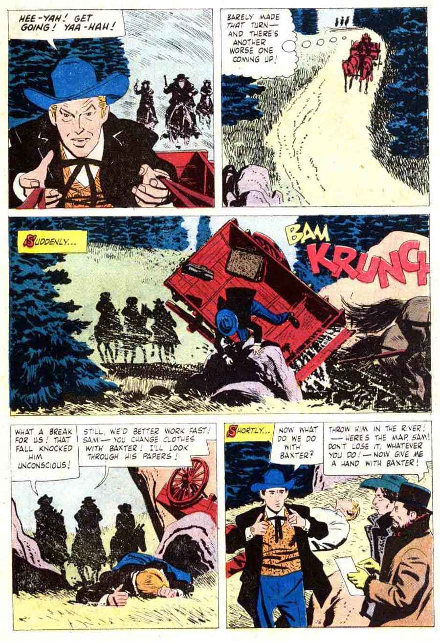 Frontier Doctor / Four Color Comics #877 dell western comic book page art by Alex Toth