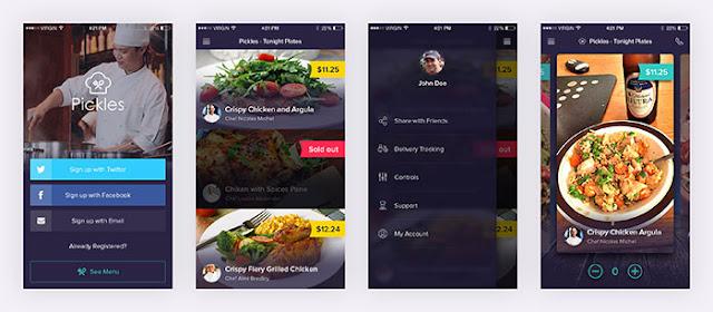 Pickles – Restaurant PSD App UI Kit