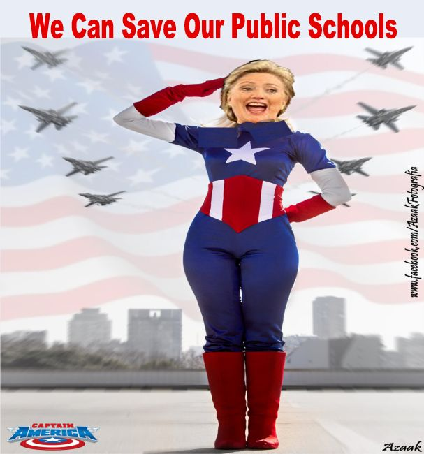 Image result for big education ape hillary