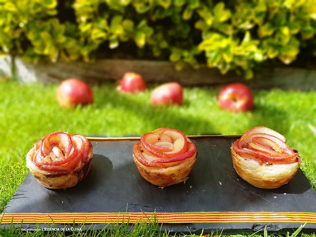 Roses de Poma, postres Sant Jordi, Roses de Sant Jordi, l'essencia de la cuina, blog de cuina de la sonia