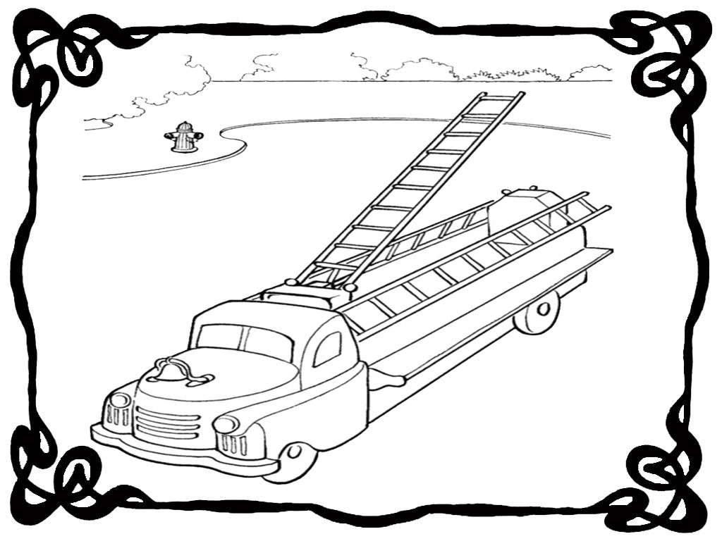 fire engine coloring page - fire engine coloring pages to print realistic coloring pages