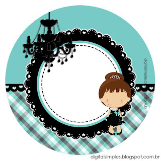 Breakfast at Tiffany's Baby Cupcakes Toppers or Free Printable Candy Bar Labels.
