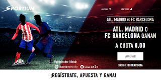 sportium supercuota 8 gana Atletico vs Barcelona 14 octubre