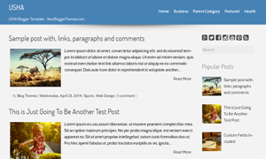 Free Usha Blogger Template