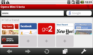 Opera mini version android