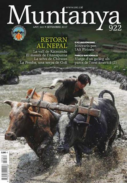 Revista Muntanya 922, portada, Ghandruk, Nepal, Jordi Canal-Soler