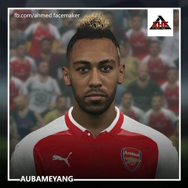Aubameyang Face PES 2017