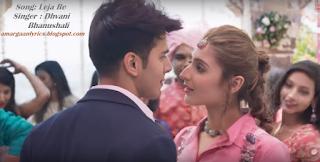Leja Re Lyrics -Dhvani Bhanushali   Dhvani Bhanushali - Leja Re Lyrics