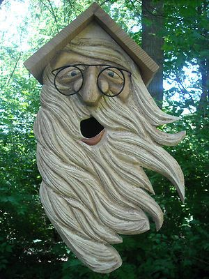 Fine Gardning Funny Wood Craved Bird Houses And Feeders
