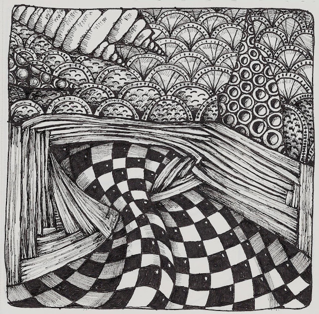 zentangle tile template - wonderland picnic zentangle zentangleinspired art