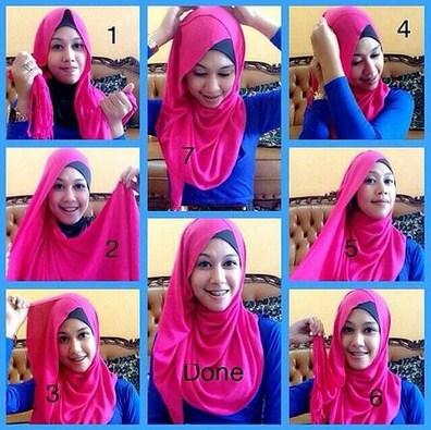 Gambar Tutorial Hijab Pashmina Modern Dan Keren Untuk Style Kekinian
