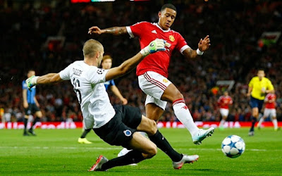 Manchester United Beats Club Brugge 3 -1 Thanks to Depay