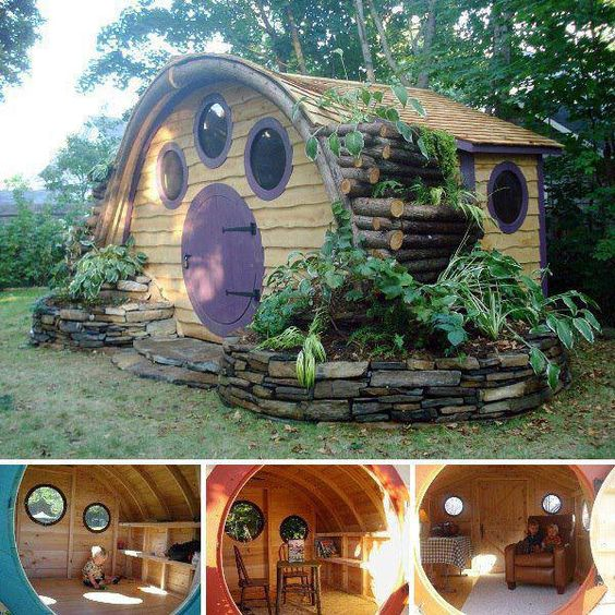 rumah kayu hobbit
