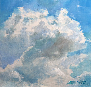 Clouds oil painting by Jeff Ward