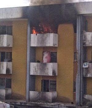fire oau female hostel