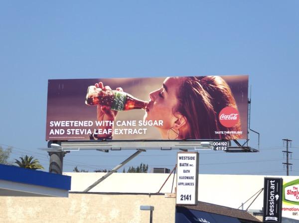 CocaCola Life billboard