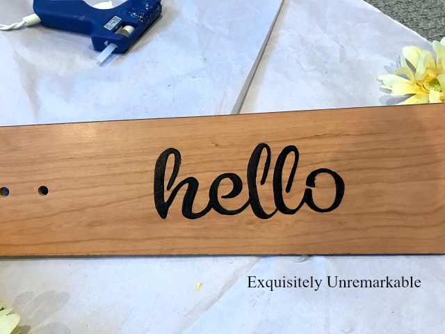 Stenciled Hello Sign