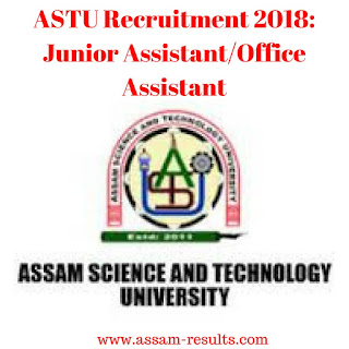 ASTU Recruitment 2018: Junior Assistant/Office Assistant
