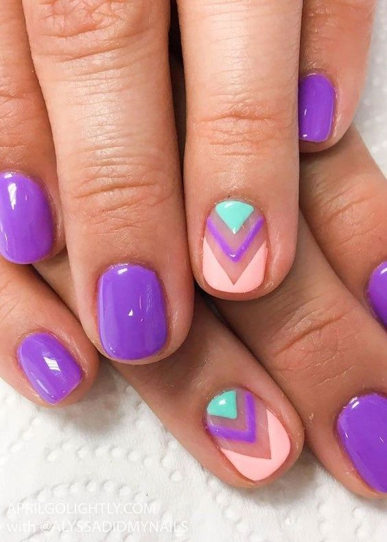 cute summer nail art idea