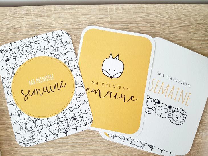 cartes étapes jaunes et grises
