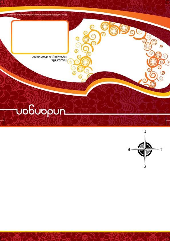 Download Desain Undangan Batik Merah Inidesain