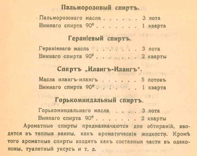 Рецепты ароматических спиртов